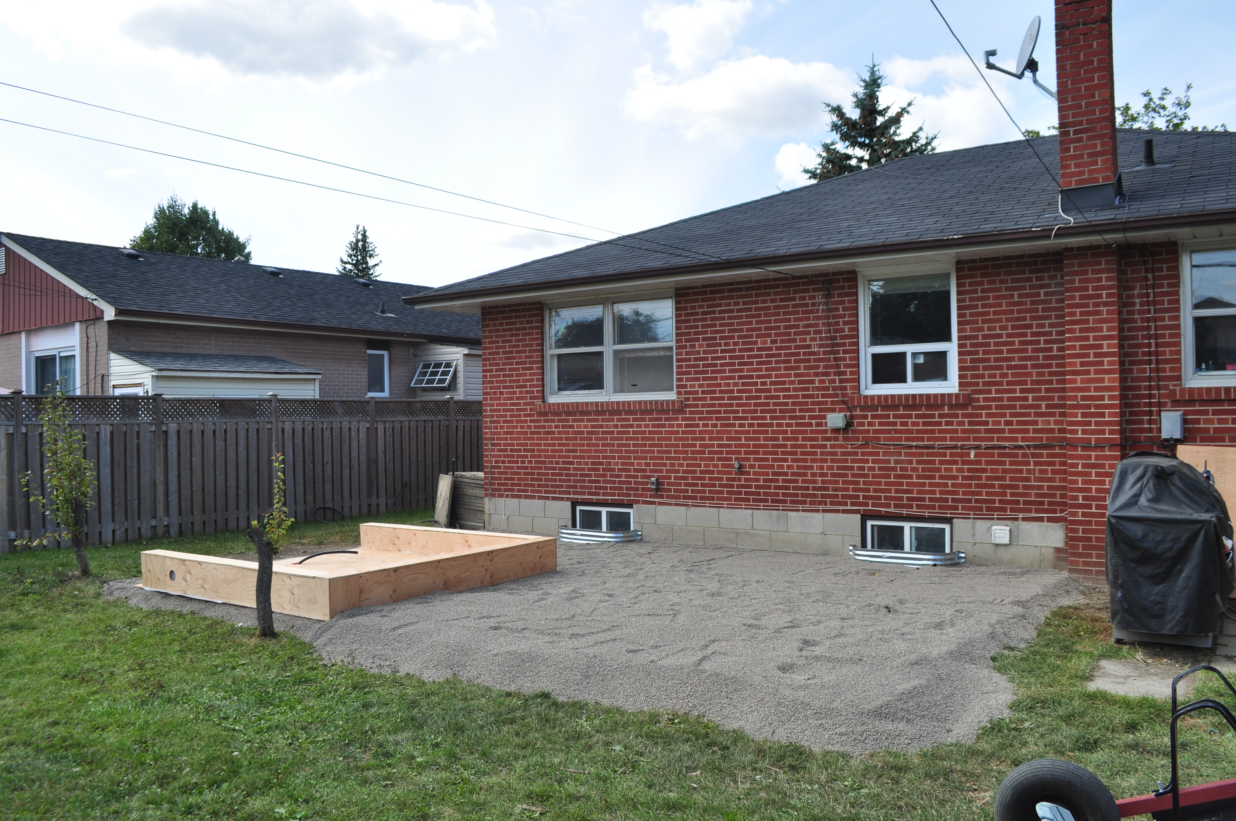 backyard fence and deck with tub gallery mcnamara services